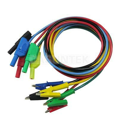 Banana Plug To Alligator Clip Test Probe Lead Cable for Electrical Testing