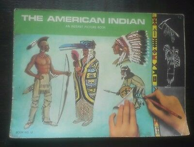 PATTERSON BLICK RUB ON TRANSFER BOOK THE AMERICAN INDIANS 1968 1st series