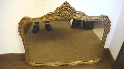 """Antique Large Ornate Gold Framed Wall Mirror Styled Gilt 29"""" X 24"""""""