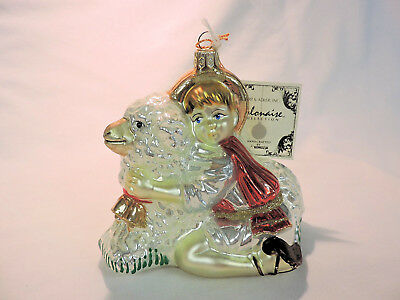 BEHOLD THE LAMB OF GOD AP971 Blown Glass Ornament - NWT  Polonaise SIGNED Iwona