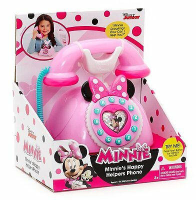 MINNIE Mouse HAPPY HELPERS Pink PHONE with Light & Sound