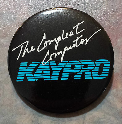 KAYPRO 'The Compleat Computer' Advertising Pinback 1980s 2 1/8""