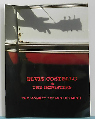 Elvis Costello & The Imposters The Monkey Speaks His Mind 2004/2005 Tour Program