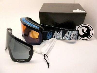 DRAGON NFX2 GOGGLES -CHRIS BENCHETLER- Lumalens Flash Blue + Dark Smoke RG16A/36