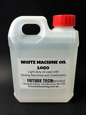 SEWING MACHINE WHITE LIGHT DUTY OIL LO80, 1 Litre, INDUSTRIAL, DOMESTIC MACHINES