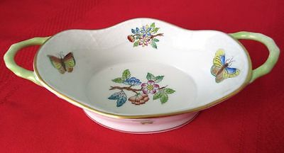 Herend Queen Victoria Small Oval Dish Double Handles