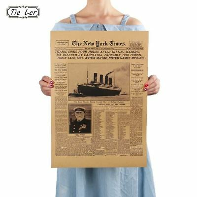 Classic The New York Times History Poster Titanic Sinking Old Newspaper