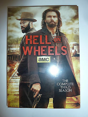Hell on Wheels: The Complete Third Season DVD 3-Disc Box Set AMC TV series NEW!