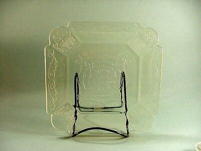 Indiana Depression Glass:Yellow Lorain Basket Pattern, 8 Sq Salad Plates 7-3/4""