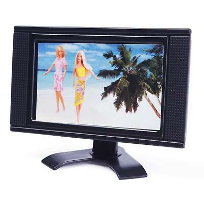 Hot Fresh Doll Furniture Flat Screen Detachable LCD TV Play for Barbie jzus