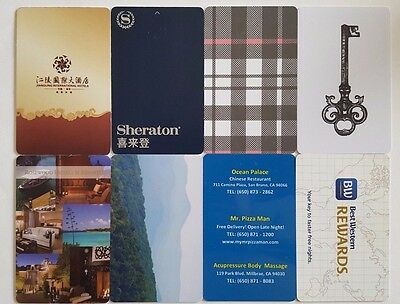 8  Hotel Room Key Cards