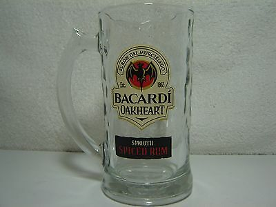 Bacardi Oakheart Glass Mug Smooth Spiced Rum