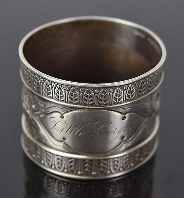 """Antique Wood & Hughes Sterling Silver Napkin Ring """"Little Georgie"""""""