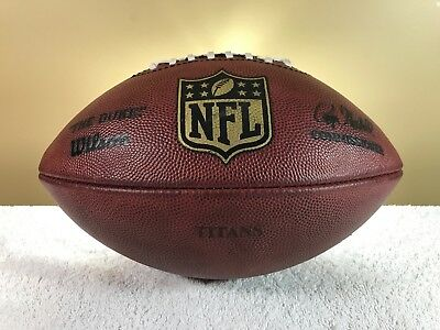 Game Used Tennessee Titans Team Issued Wilson Authentic Football Holds Air