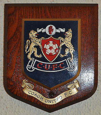 Coagh United Football Club wall plaque shield crest coat of arms