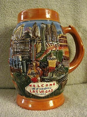 Beautiful - 3-D - Welcome To Fabulous Las Vegas, Nevada - Beer Stein - Mug - Cup