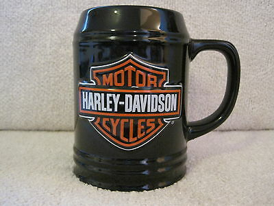 Beautiful - Rare - Harley-Davidson Cycles - Black Stein - Mug - Cup - Great Gift