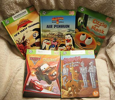 Lot Of 5 I-Tag Books - Madagascar 2 - Kung Fu Panda - Scooby-Doo - Cars + More!!
