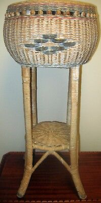 Plant Stand Original Vintage Antique Wicker Planter Fern Holder EXC CONDITION