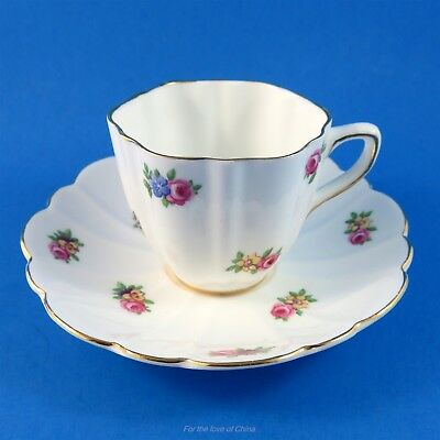 Pretty Little Flowers Old Royal Demitasse Tea Cup and Saucer Set