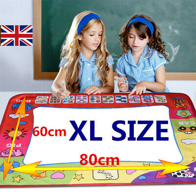 UK Kids Aqua Doodle Water Painting Drawing Mat Large Writing Board Magic Pen Toy