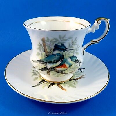 Birds of America Blue Jays Queen's Tea Cup and Saucer Set