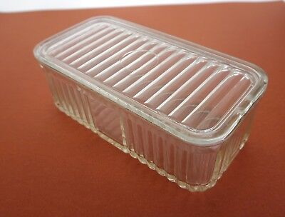 Depression Glass 2lb Butter Dish a/f