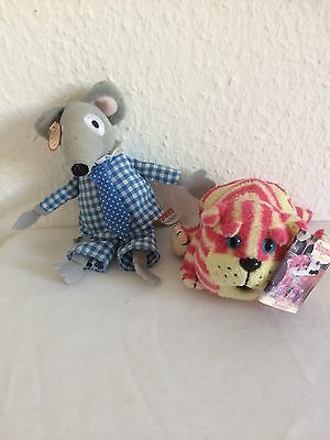 "Bagpuss 5"" Beanie  1999 &  8"" Charlie Mouse 2001 Golen Bear Products"
