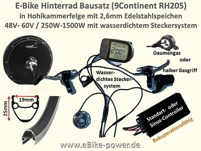 e bike power umbausatz 500w 1000w 1500w ebike bausatz f r. Black Bedroom Furniture Sets. Home Design Ideas