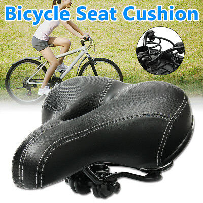 Wide Big Comfy Bike Saddle Seat Bicycle Cruiser Gel Extra Comfort Soft Pad Sport