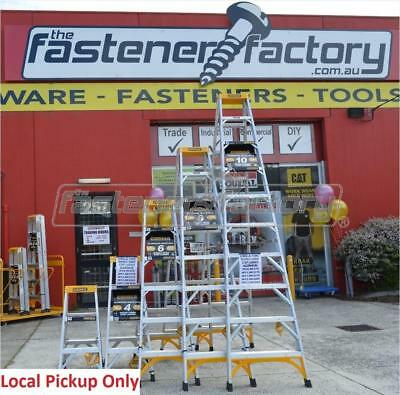 Gorilla 150kg Trade industrial Aluminium Double Sided Ladders 3 - 10ft 0.9 - 3m