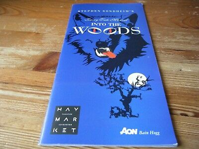 1997 - Theatre  Programme  - Into The Woods -  At The Haymarket - Leicester  Vgc