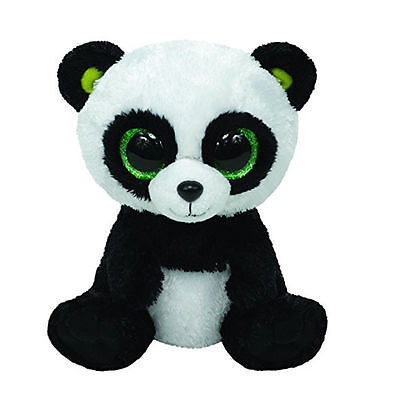 "6"" Cute Panda TY Beanie Boos Plush Stuffed Toys Glitter Eyes Christmas gift"