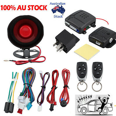 Car Alarm Security System 2 Remote Control Vehicle Burglar Protection Anti-theft