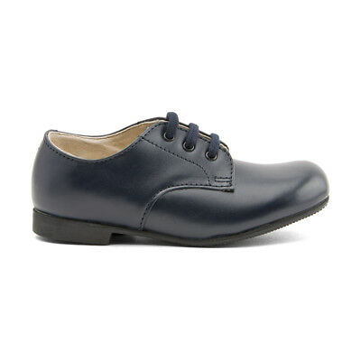 Start-rite John, Navy Blue Leather Lace-up Classic Shoes