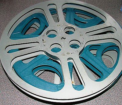 16mm PROJECTOR 2000ft FILM SPOOL REEL IN GOOD CONDITION + CAN
