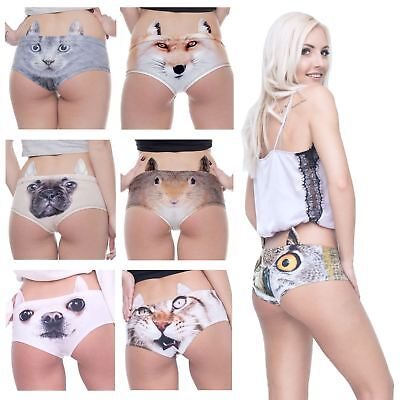 New Animal Face Panties Underwear Sexy Lingerie Pretty Cute With Little Ears