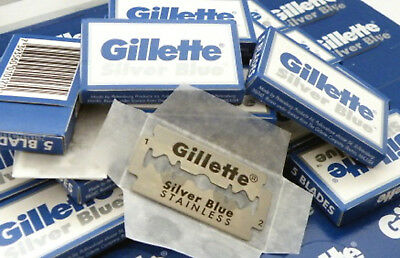 Gillette Silver Blue Double Edge Stainless Steel Razor Blades