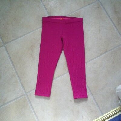 "Girls ""Ted Baker"" Magenta Pink Quilted Patterned Leggings Age 18-24 months"