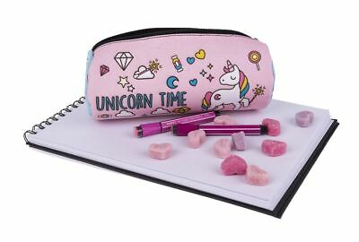 Cylindrical Animal Unicorn Time Pen Pencil Case Toiletry Bag Vanity, Make Up Bag