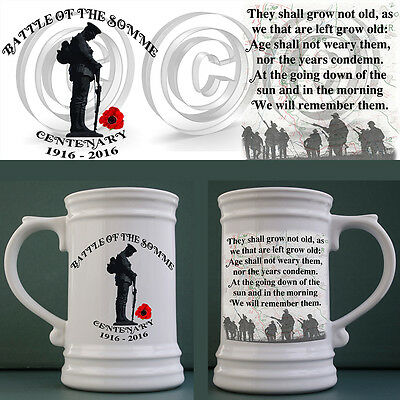 Battle of the Somme Centenary commemorative Stein / Tankard