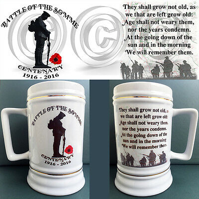 Battle of the Somme Centenary commemorative Stein / Tankard 22oz