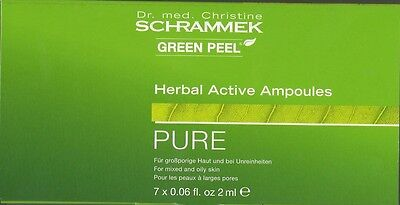 Dr. Schrammek Green Peel Herbal Active Ampoules PURE  7 x 2 ml, (€ 200,00 / 100)