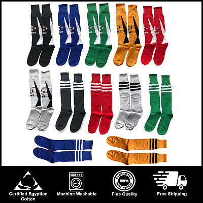 New Football Stripe Socks Rugby Hockey Soccer Free Delivery Mens Womens Kids UK