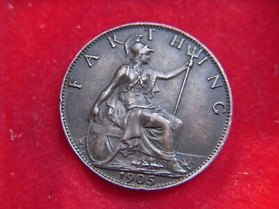 1905 Edward V11 Farthing From My Collection [Y48]