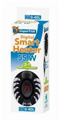 SuperFish Aquarium Smart Digital Heater 55W 0-40L with Thermometer for Nano Tank