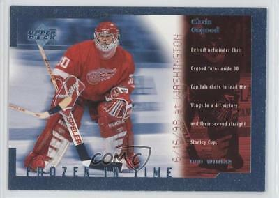 1998 Upper Deck Frozen in Time #FT15 Chris Osgood Detroit Red Wings Hockey Card