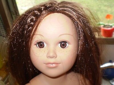 Cititoy Doll~18 Inches Brunette Braid Brown Eyes Freckles See Description Pics