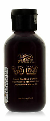 Mehron Makeup 3D Gel, 2 oz - Blood Red for Special FX | Halloween | Movies
