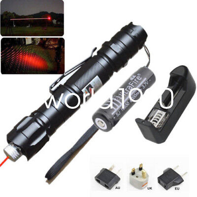 UK Red 1mw Laser Pointer 532nm 8000M Powerful Light Pen Beam+battery Charger